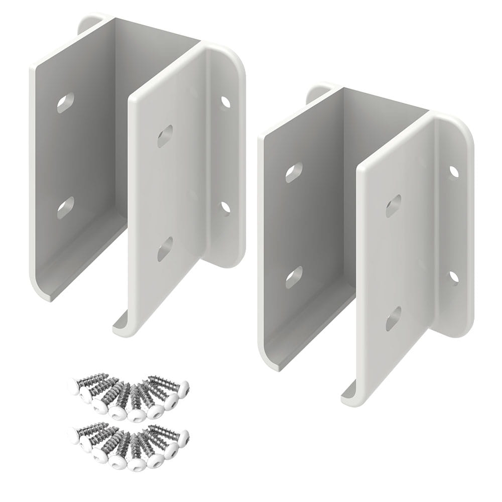 Outdoor Essentials vinyl fence brackets come in a set of 2 with screws