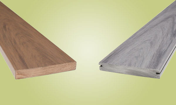 solid vs slotted edge deck boards