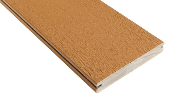 deck board with grooved (slotted) edges