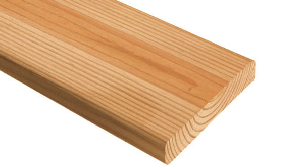deck board with solid (square) edges