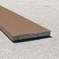 mocha brown composite deck boards, angled stack