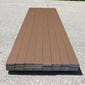 mocha brown composite deck boards, stacked