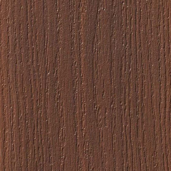 rosewood brown composite deck board swatch.