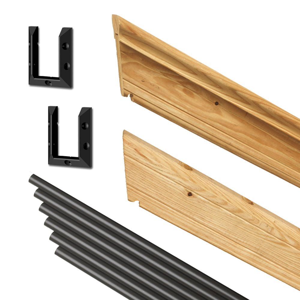 ... Cedar Tone Outdoor Stair Railing Kit Components ...
