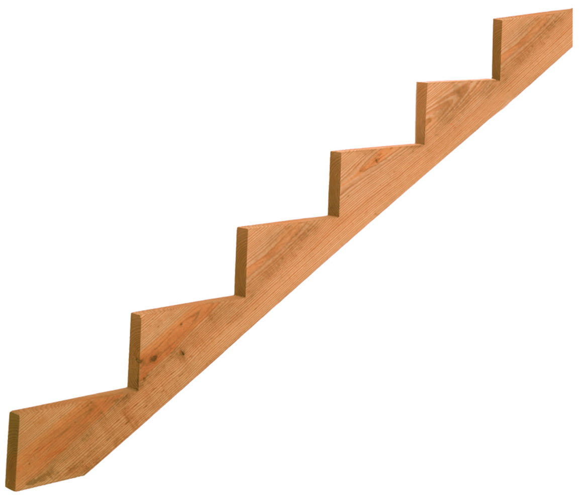 cedar-tone wood 6-step stair stringers