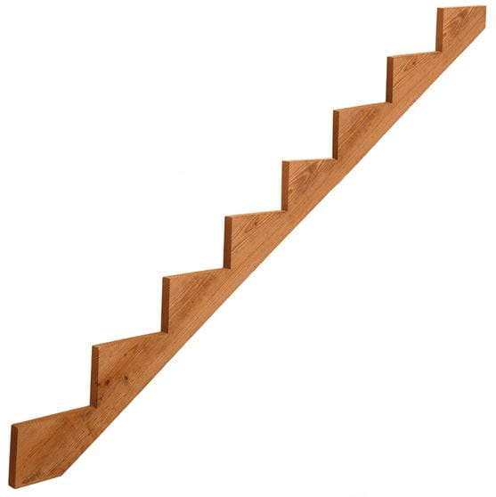 cedar-tone wood 8-step stair stringers