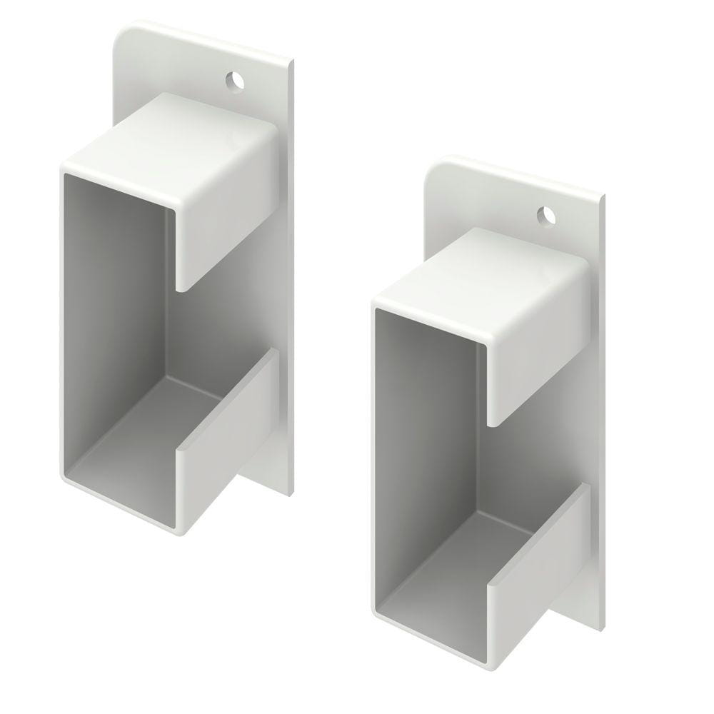 White vinyl fence brackets