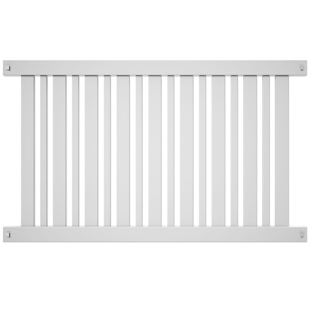 Outdoor Essentials 4 by 6 white evanston picket fence panel