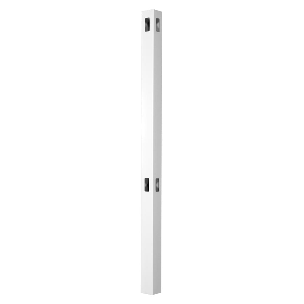 Outdoor Essentials white evanston 74 inch corner post