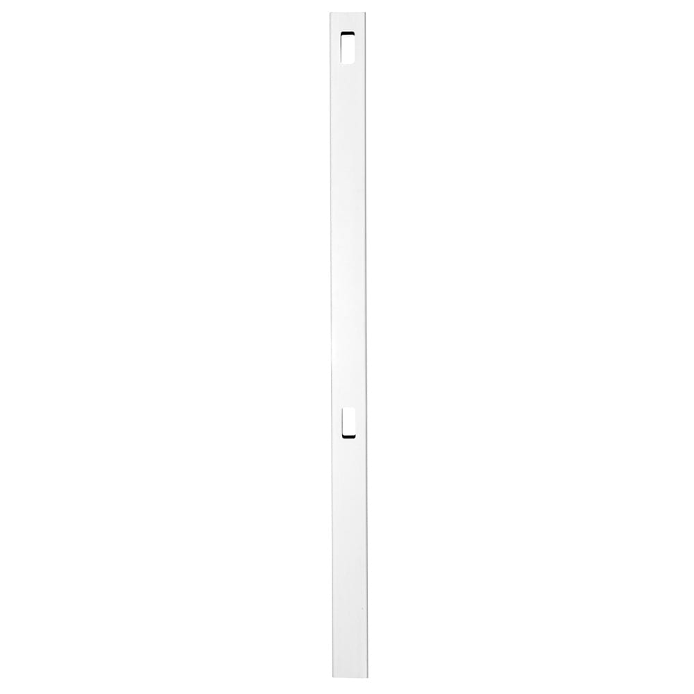 Outdoor Essentials white evanston 74 inch in line fence post