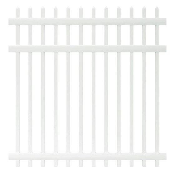 white picket fence panel