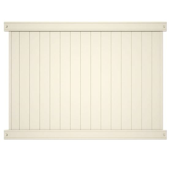 Outdoor Essentials tan lakewood fence panel