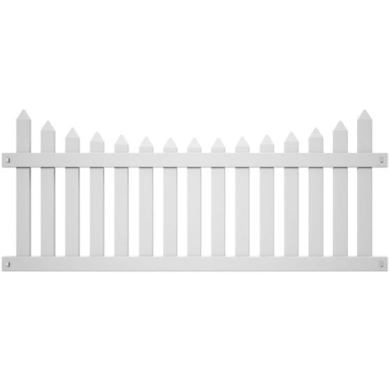 abington white picket fence panel