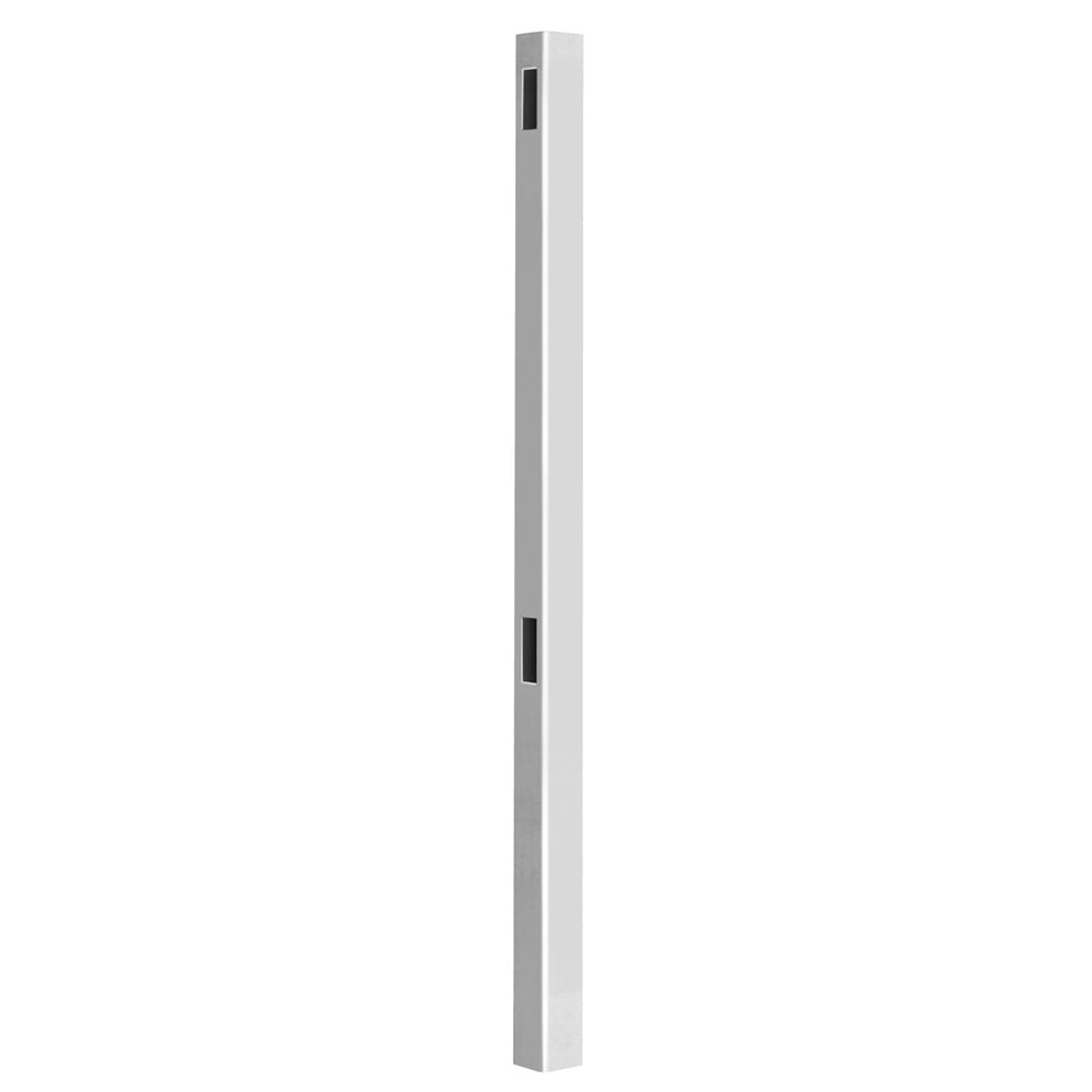 Outdoor Essentials white hudson 98 inch line post