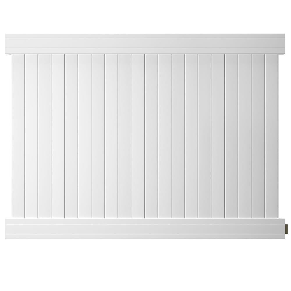 Outdoor Essentials white hudson 6 by 8 privacy panel