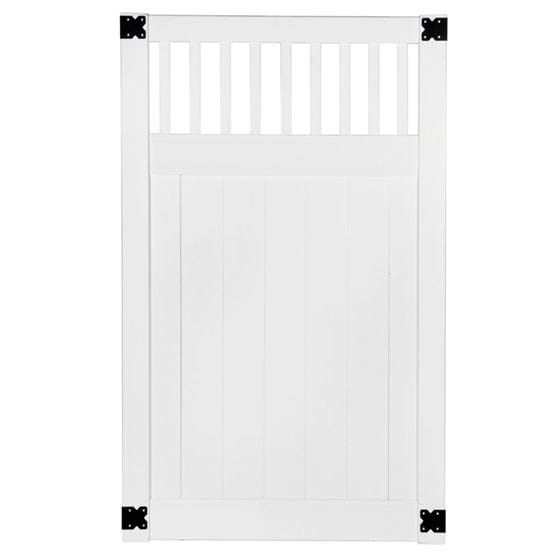 white vinyl lakedwood closed picket gate