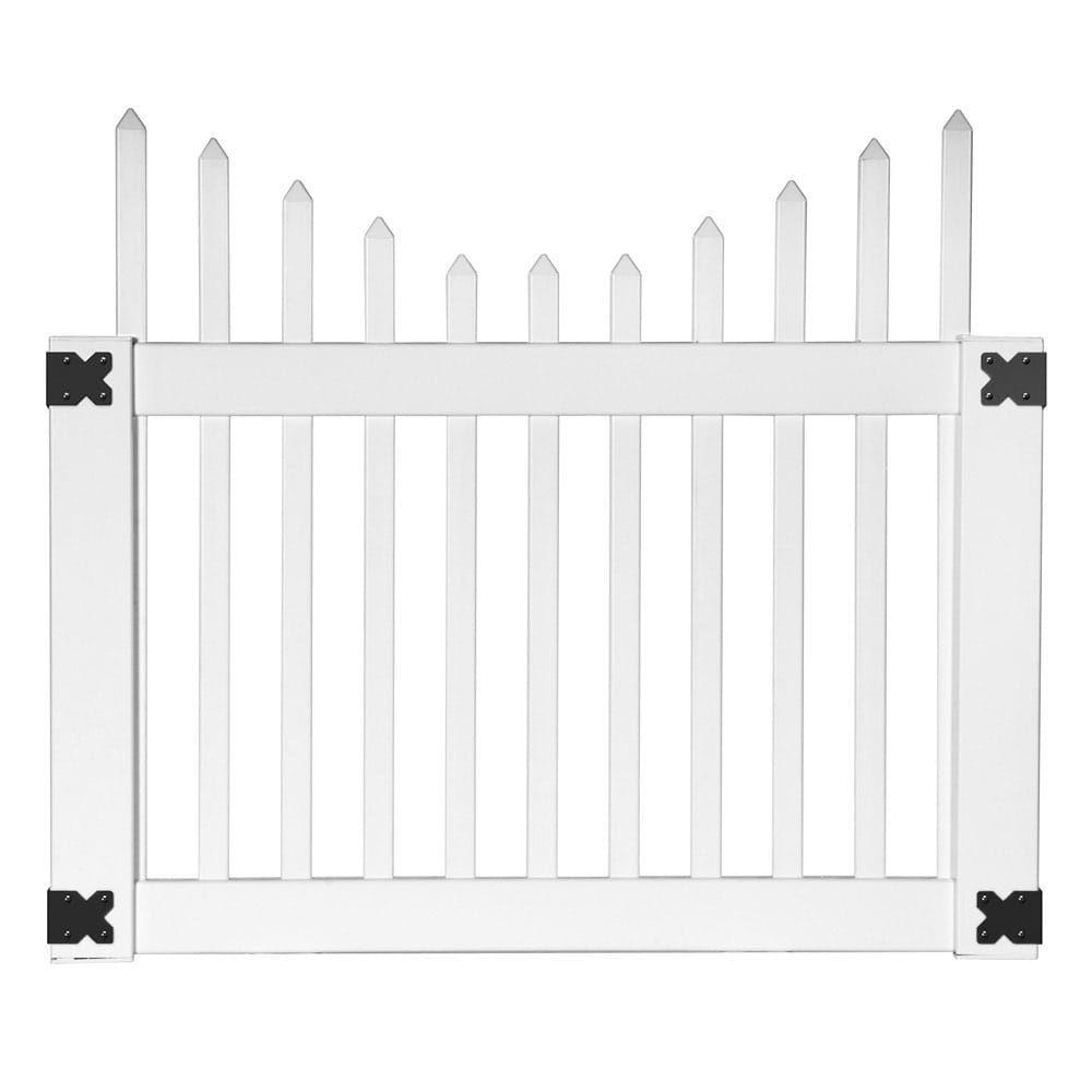 needham white cut scalloped gate
