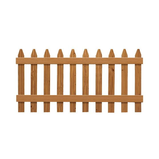Outdoor Essentials cedar tone picket fence panel