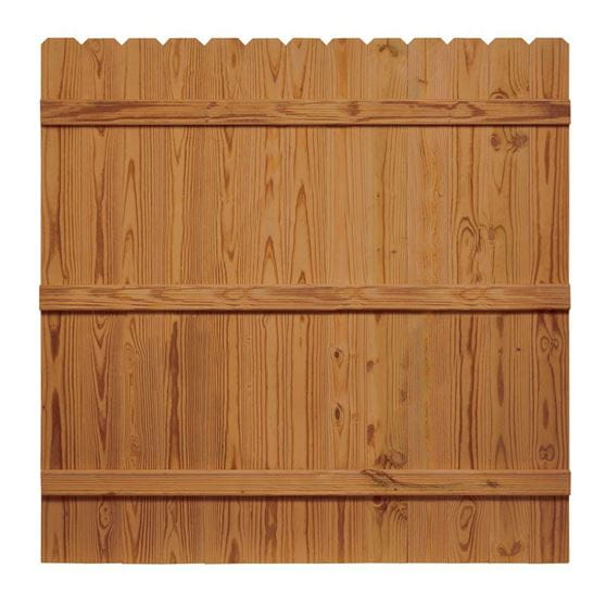 Outdoor Essentials cedar tone dog eared privacy fence panel