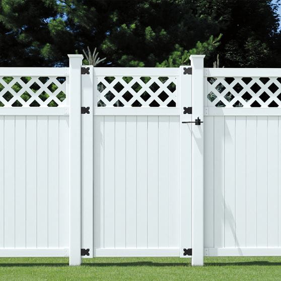 Picketlock 3 1 2 Ft X 6 Ft Olympia Vinyl Lattice Top Fence