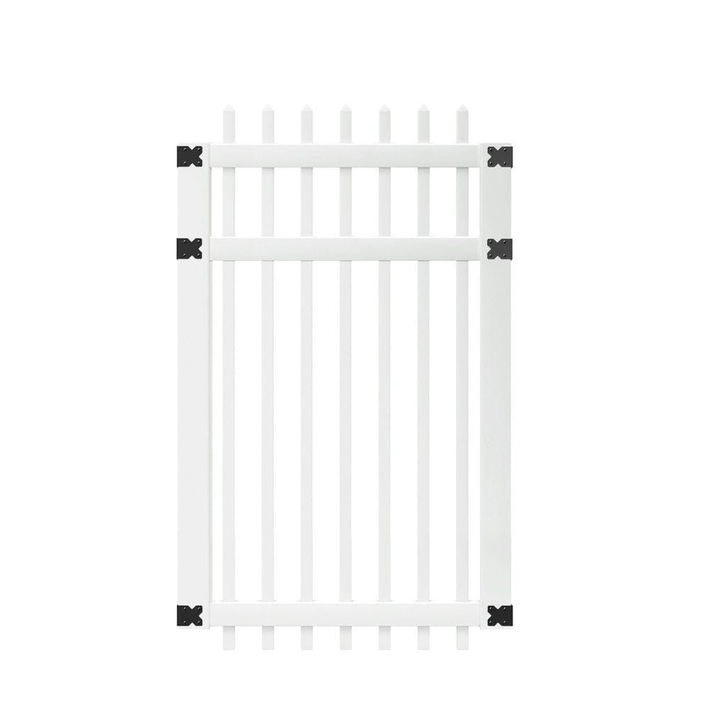 white pinehurst picket fence gate
