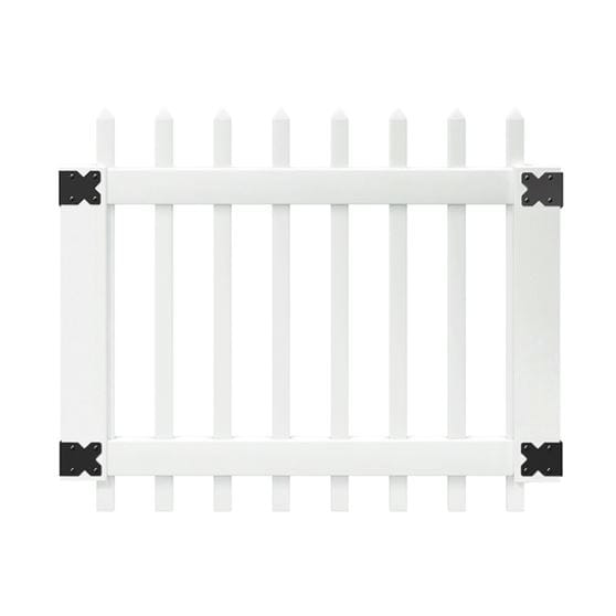 Outdoor Essentials white pinehurst picket gate