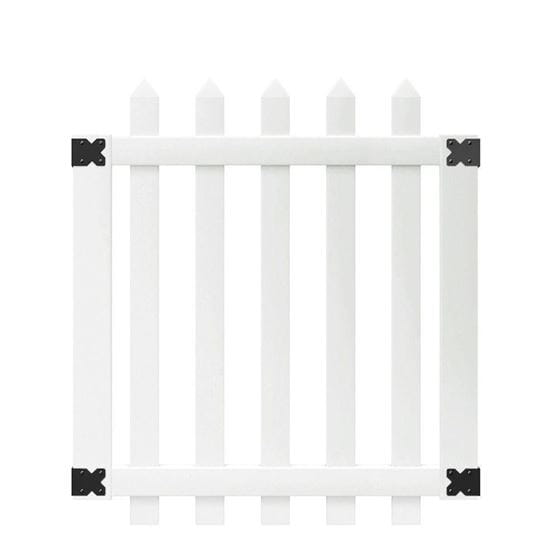 Outdoor Essentials white yorketown spade picket fence gate