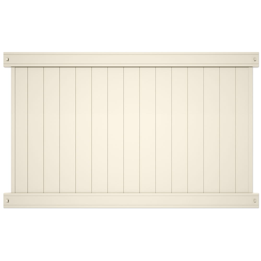 tan lakewood privacy fence panel