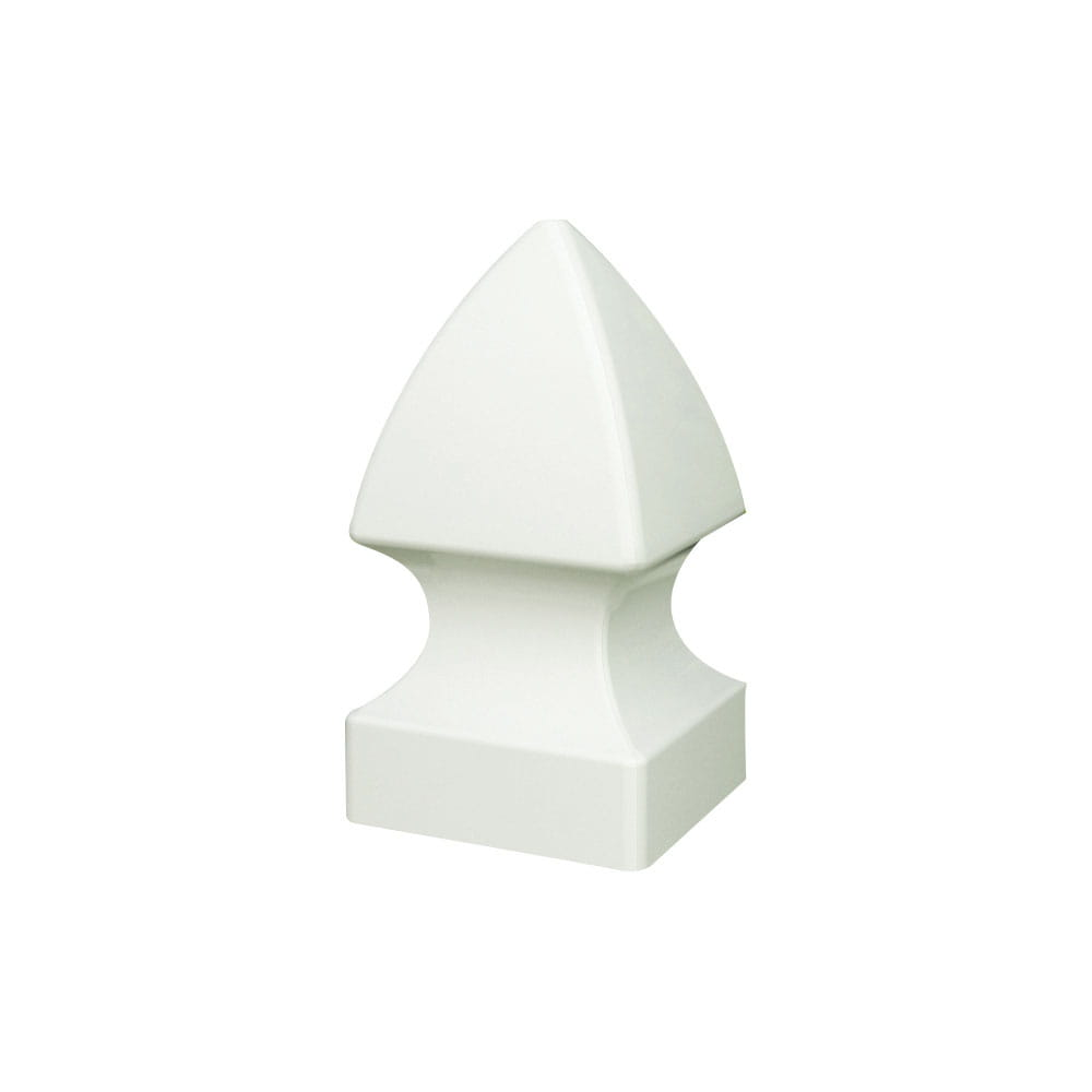 Outdoor Essentials white Gothic 4 by 4 post caps