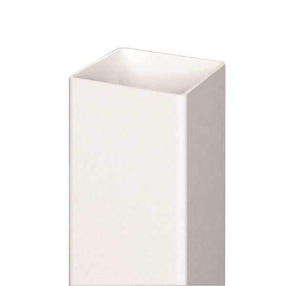 Outdoor Essentials white vinyl fence post
