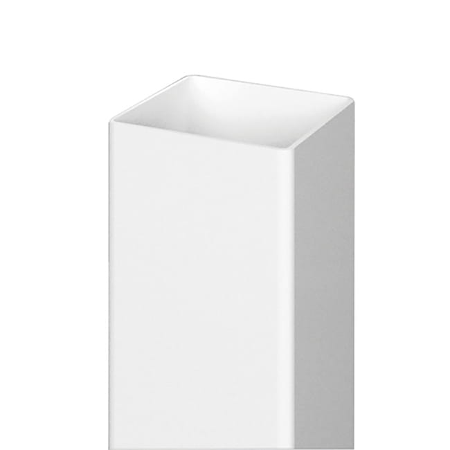 5x5 White Vinyl Fence Post