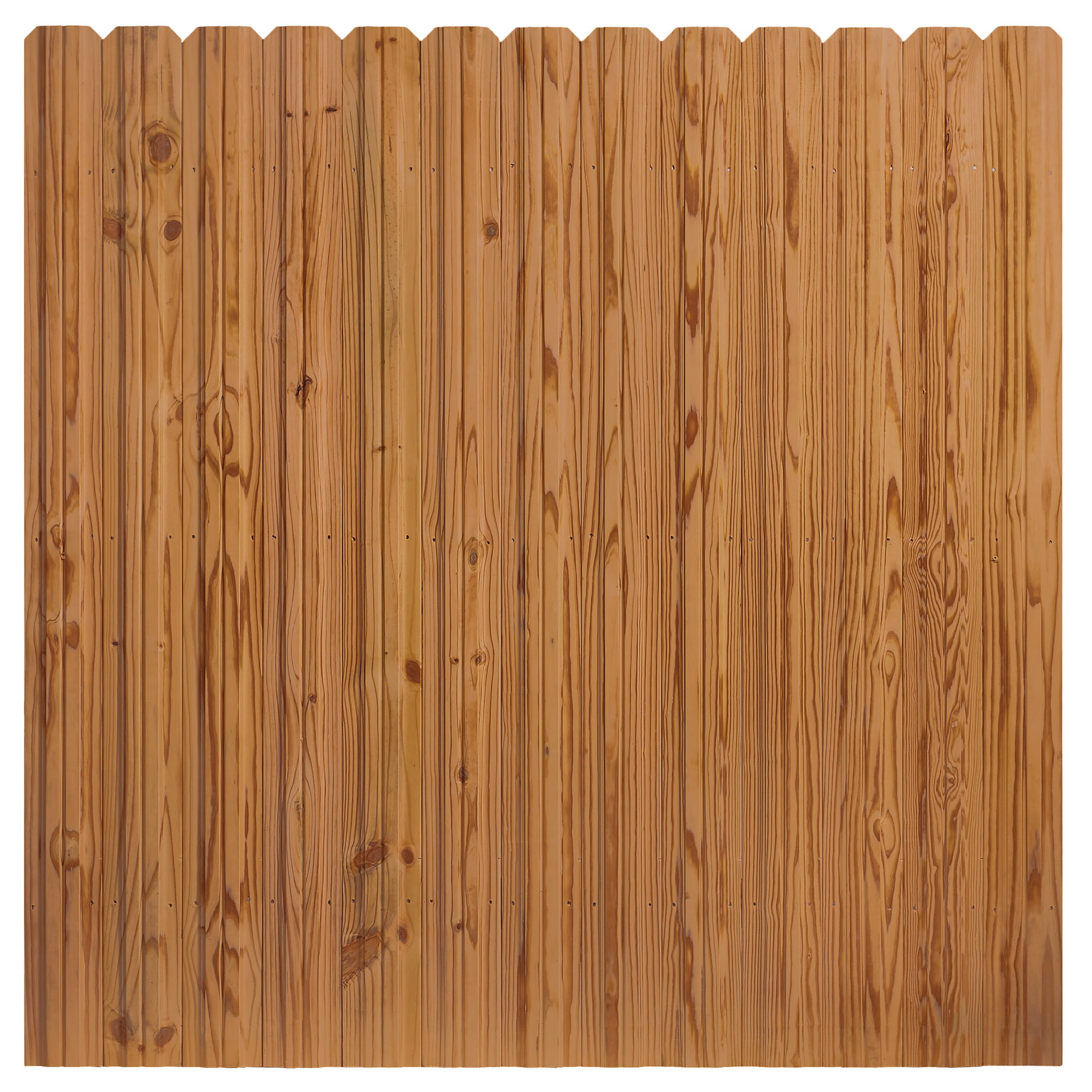 Outdoor Essentials cedar tone dog eared 6 by 6 privacy panel