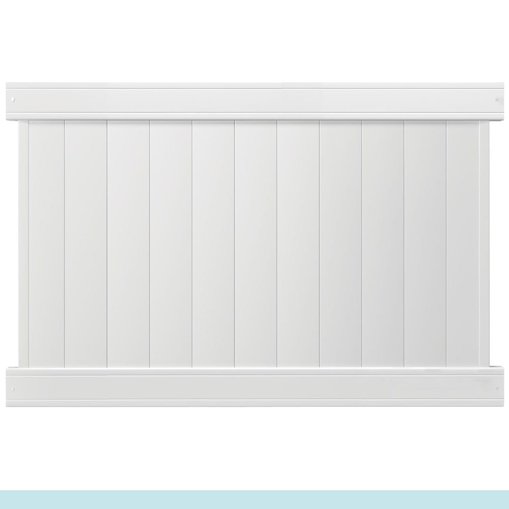 white lakewood privacy fence panel