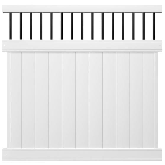 Outdoor Essentials white lakewood and black baluster panel