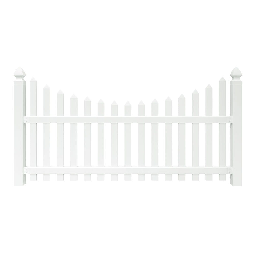 yorktown scalloped spaced picket fence panel