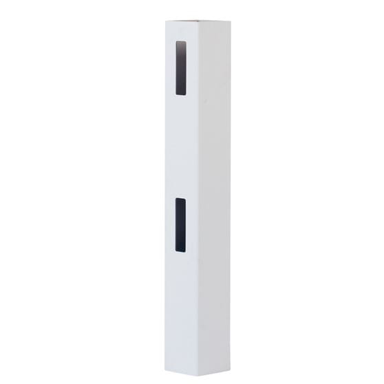 Outdoor Essentials white vinyl 2-rail ranch fence end post
