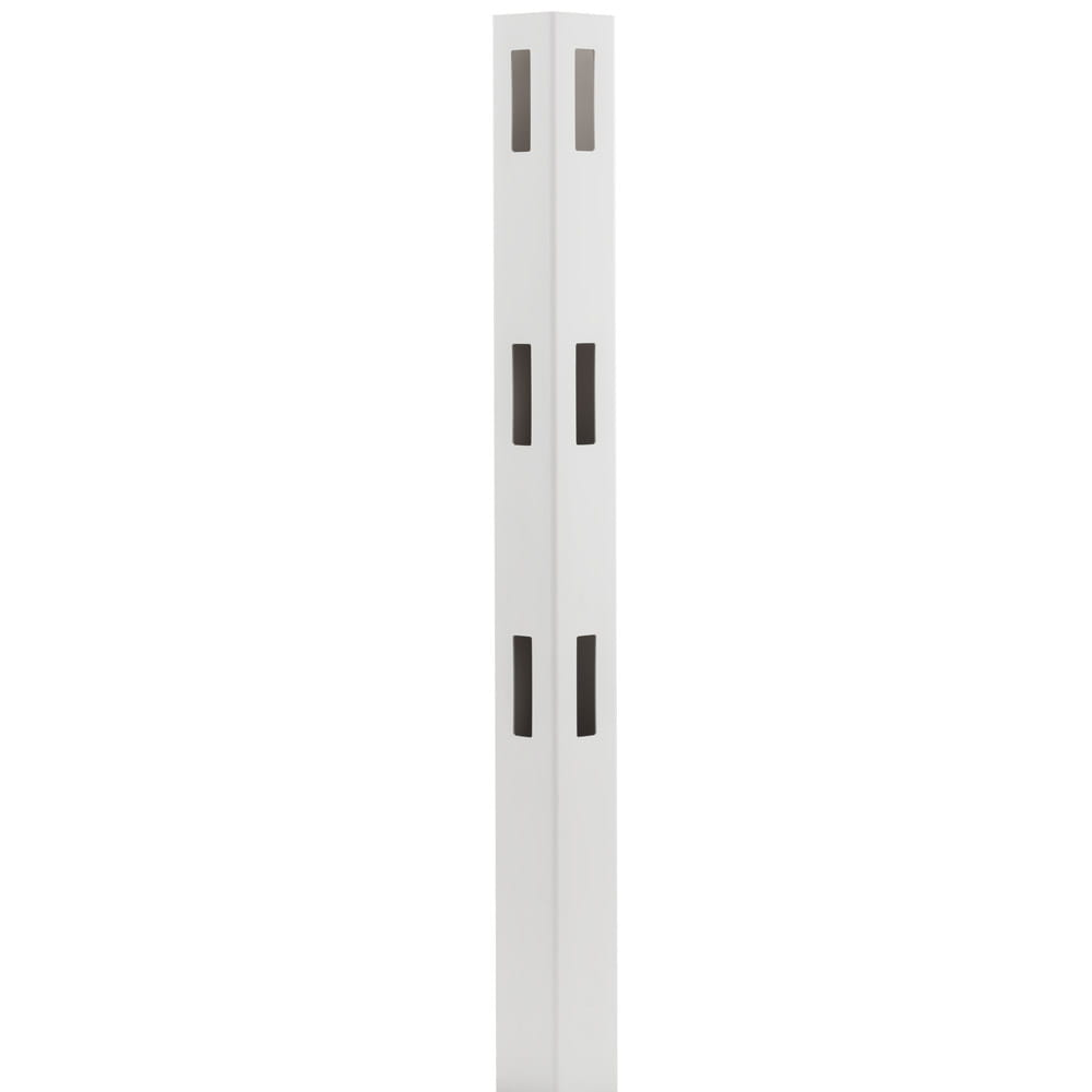Outdoor Essentials white vinyl 3-rail ranch fence corner post