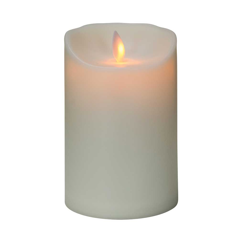 Short white fake candle
