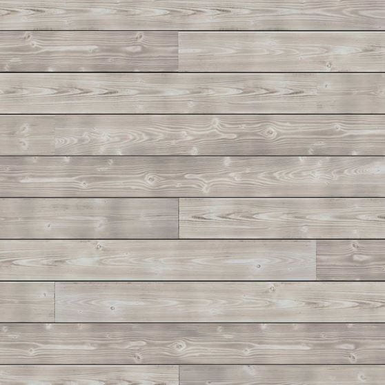White Accent Wall With UFP Edge Smoke Charred Wood Shiplap