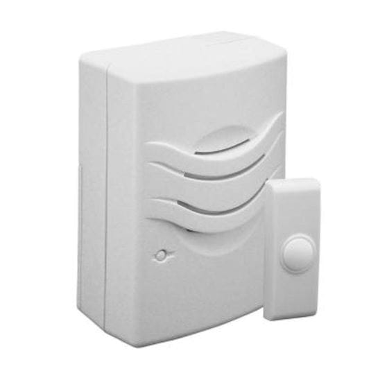 white doorbell chime & button