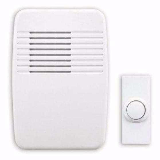white doorbell chime & white button