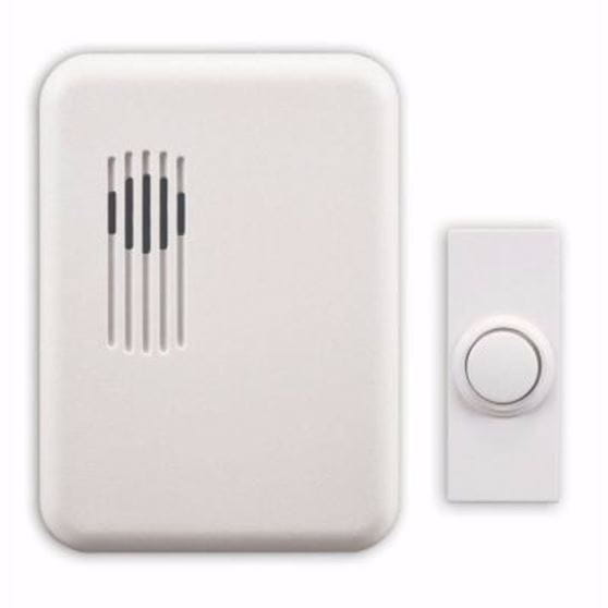 off-white doorbell chime & white button