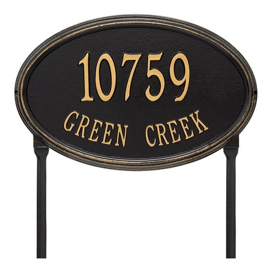 Concord Oval Grand Address Plaque Yard Home