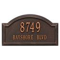 Rectangle with semi circle bump out on top wall address plaque, oil rubbed bronze