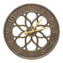 Medallion french bronze clock