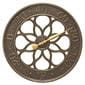 Medallion french bronze thermometer