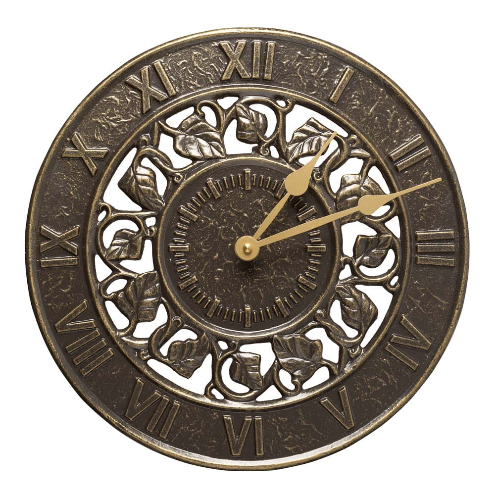 Ivy french bronze clock