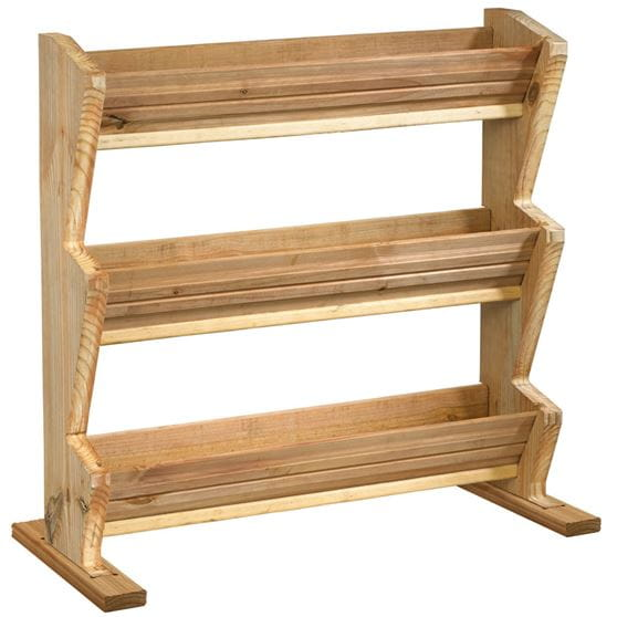 outdoor essentials wooden 3-tier planter