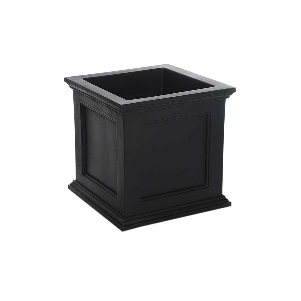 black square ferndale planter box.