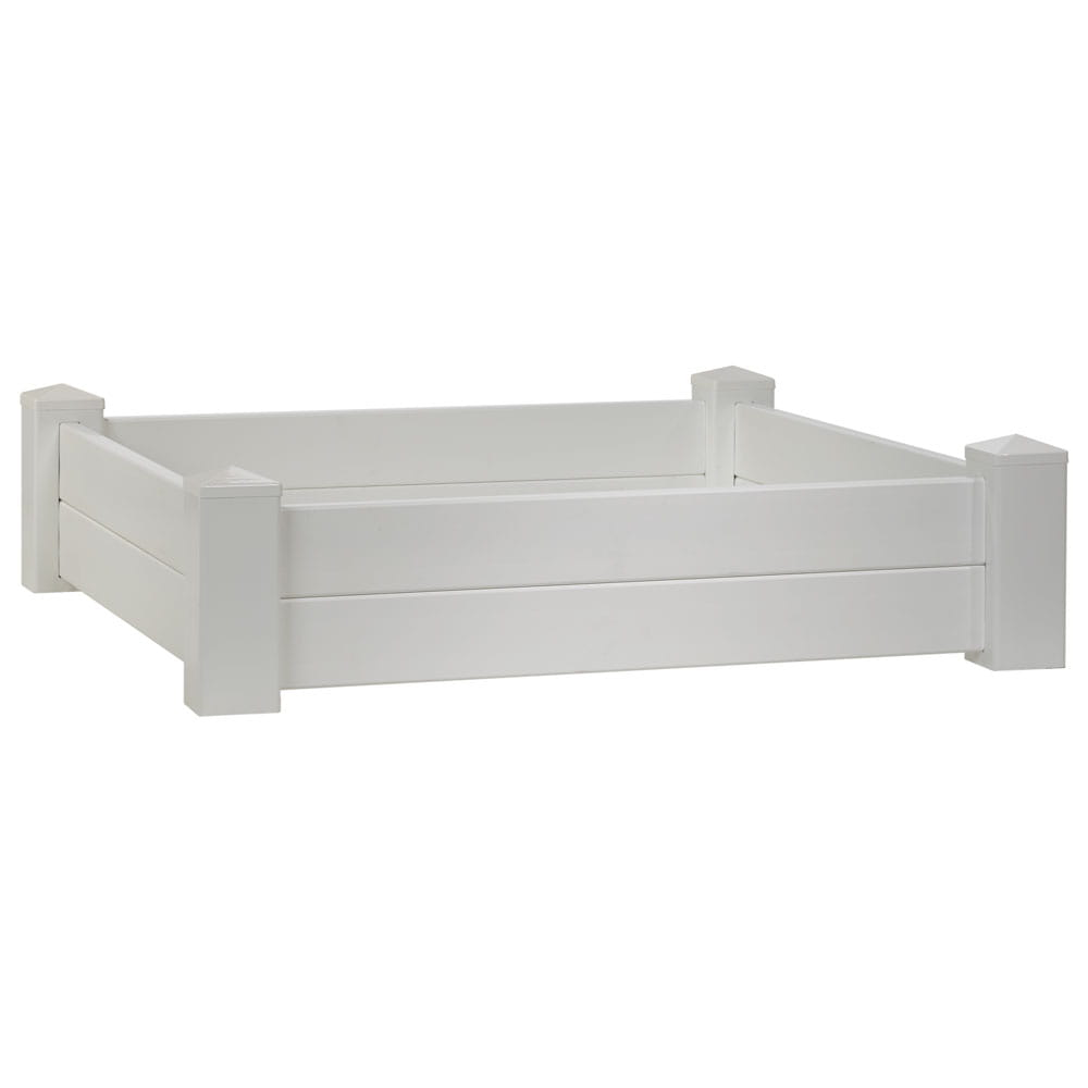 Outdoor Essentials white vinyl raised garden bed